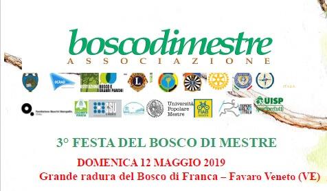 Terza Festa del Bosco di Mestre – domenica 12 maggio 2019